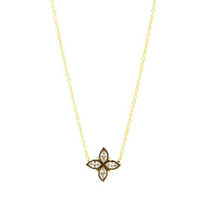 Image of Bloom Clover Leaf Pendant Necklace by Freida Rothman