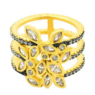 Image of Fleur Bloom Leaflet triple Ring by Freida Rothman