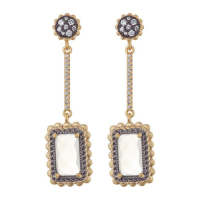 Image of Gilded Cable Linear Drop Earringsby Freida Rothman