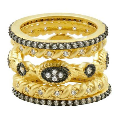 Image of Gilded Cable 5 Stack Rings | Size 8by Freida Rothman