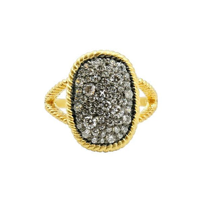 Image of Gilded Cable Large Pave Ring | Size 7by Freida Rothman