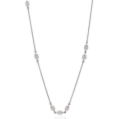 Image of Pointe Pave Station Necklace by Freida Rothman