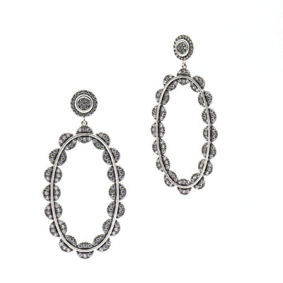 Image of Industrial Finish Large Pave Earringsby Freida Rothman
