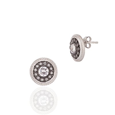 Image of Nautical Button Stud Earrings by Freida Rothman