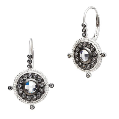 Image of Nautical Button Leverback Earrings by Freida Rothman