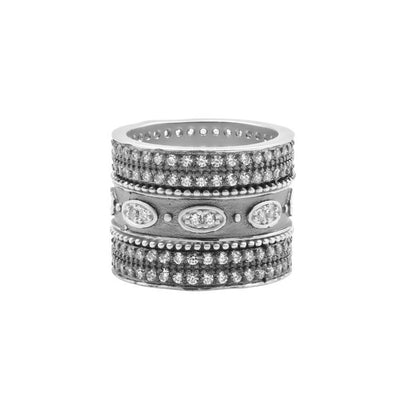 Image of Signature Oval Eternity 3-Stack Ring | Size 6by Freida Rothman
