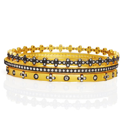 Image of Mixed Classic Set of 3 Stackable Bangles by Freida Rothman