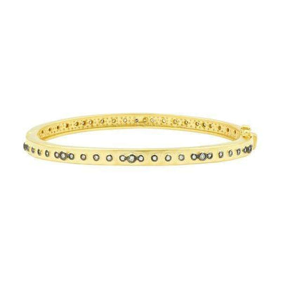 Image of Signature Mini Stud Eternity Hinge Bangleby Freida Rothman