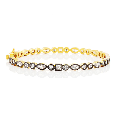 Image of Signature Mixed Shapes Bracelet by Freida Rothman