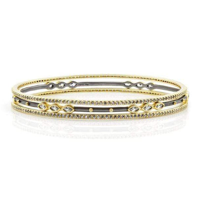 Image of Rose D'or 3-Stack Slide Banglesby Freida Rothman