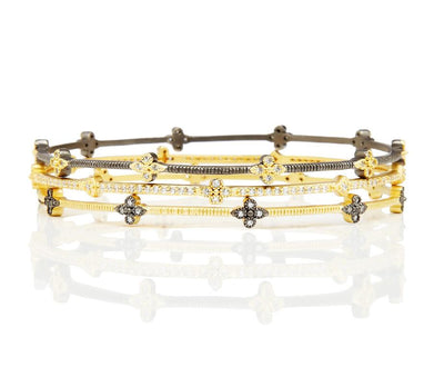 Image of Thin Clover Station Bangle by Freida Rothman