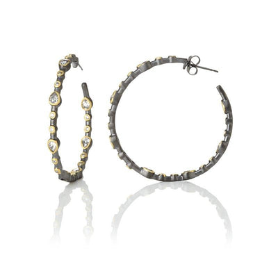 Image of Signature Teardrop Hoop Earrings by Freida Rothman