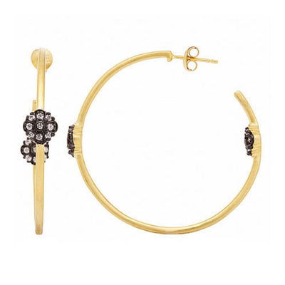 Image of Flower Station Hoop Earringsby Freida Rothman