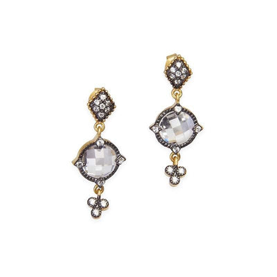 Image of Signature Mirror Stone Earrings by Freida Rothman