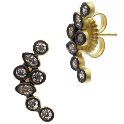 Image of Signature Cluster Stone Stud Earrings by Freida Rothman
