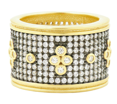 Image of Wide Pave Band Ring by Freida Rothman