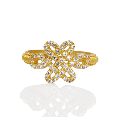 Image of Love Knot East West Ring by Freida Rothman