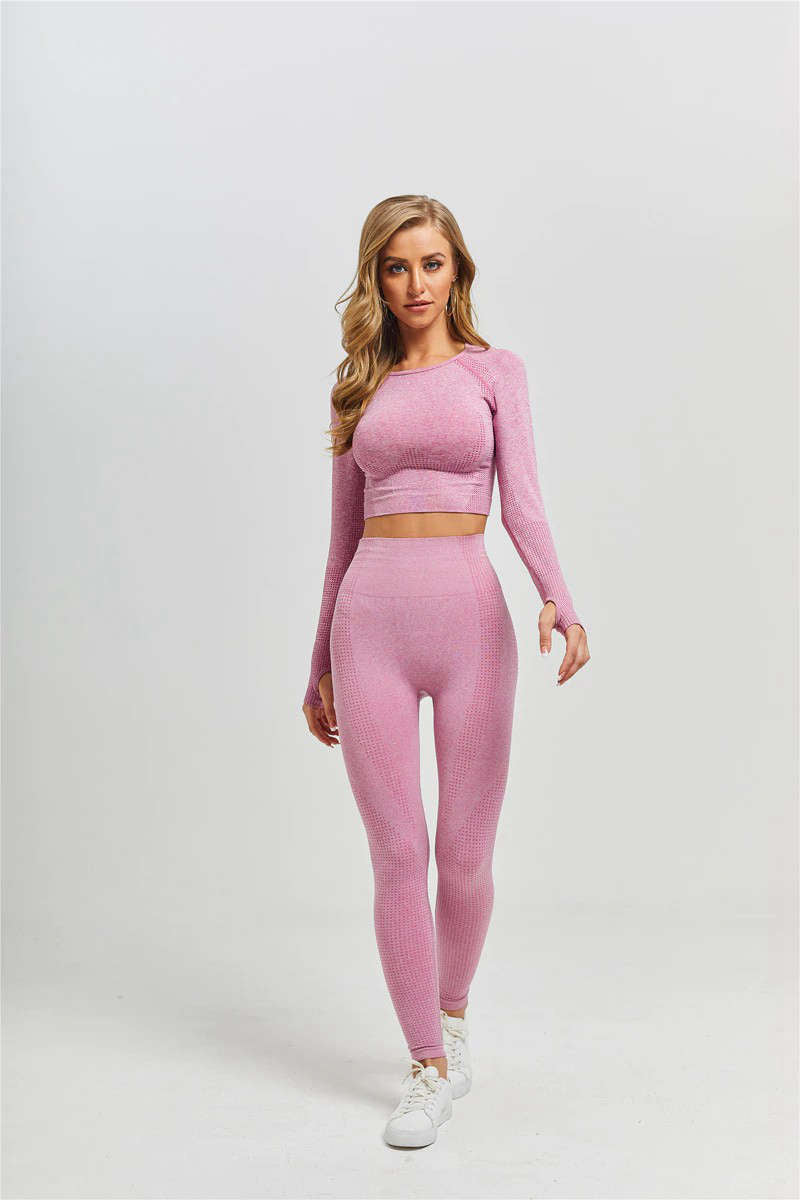 Women Tight Yoga Pants Fitness Yoga Leggings Long Sleeve Workout Leggings