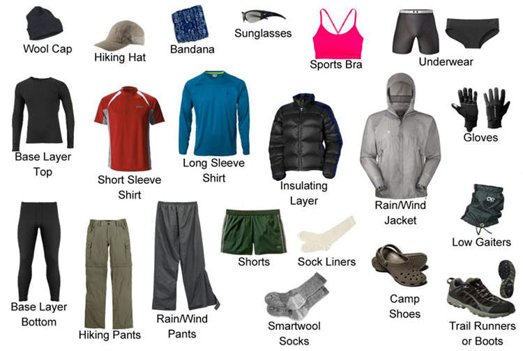 outdoor camping gears for wearing
