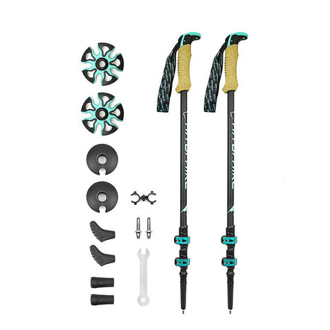 195g/pc Carbon Fiber Trekking Pole Nordic Walking Stick