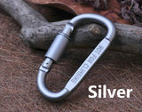 8cm Aluminum Carabiner Quickdraw Keychain Hook - Spocamp