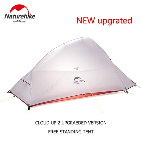 Naturehike Camping Tent Waterproof Outdoor Hiking Tent Backpacking Tent With Free Mat - Spocamp