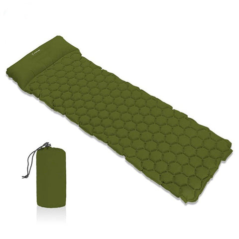 Inflatable Sleeping Pad Camping Mat With Pillow air mattress Sleeping Cushion - Spocamp