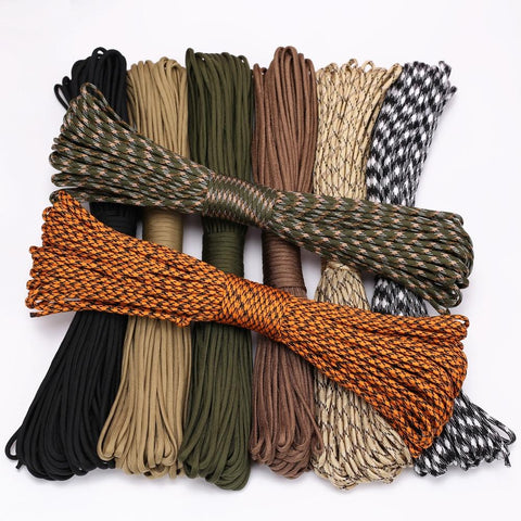 Tent Guy Ropes 4mm 9 stand Cores Survival Parachute Cord Hiking Clothesline - Spocamp