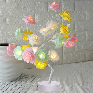 LED Table Lamp Lights Rose Flower Tree Christmas Decoration