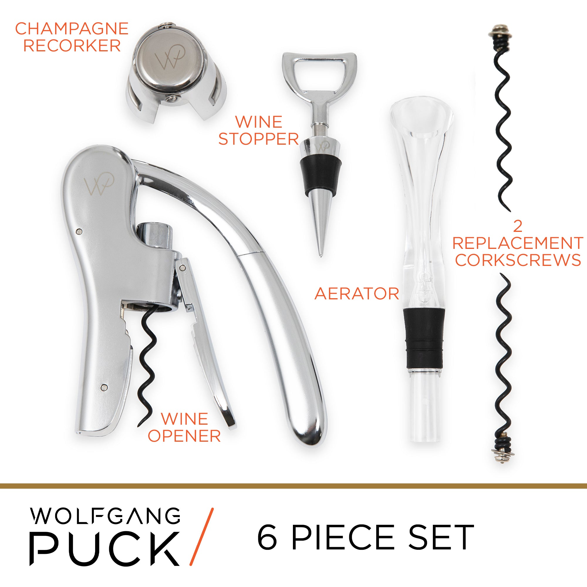 6-Piece Wine Tool Set