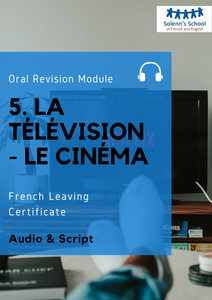 "French LC Oral Revision Module 5: ""Television & Cinema"""
