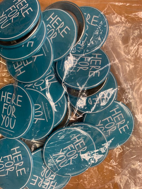 #HereForYou Teal Button