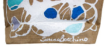 "Load image into Gallery viewer, ""Blue Waves"" Beach Tote - One of a Kind with Two Original Paintings by Serena Bocchino"