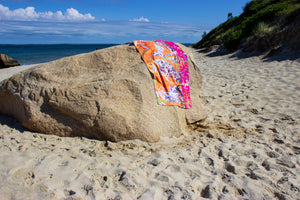 Sometimes Magenta Beach Towel