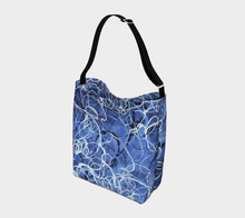 Load image into Gallery viewer, Blue Jazz Waves Cross-Body Day Tote
