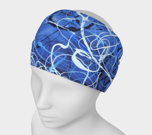 Load image into Gallery viewer, Blue Jazz Waves Headband