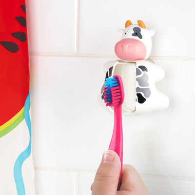 Keeping the toothbrush in the Cow toothbrush Cover