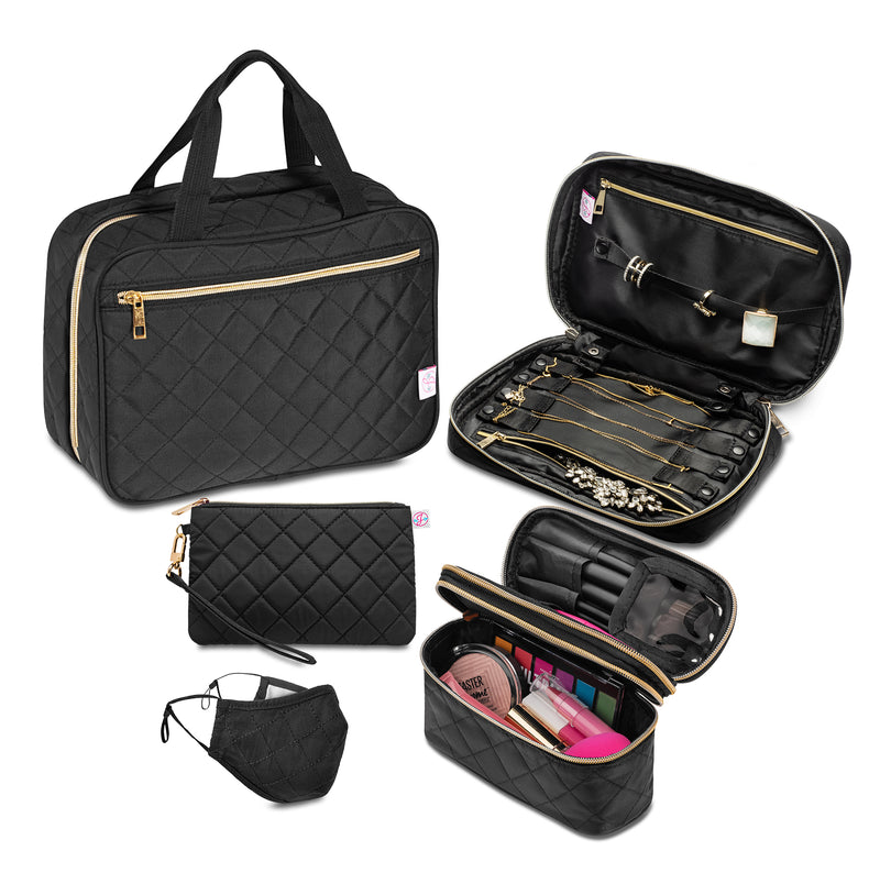 Best Value! Ms. J Travel Trio Plus: Our Accessory Set + Wristlet & Mask Set
