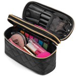 Load image into Gallery viewer, Ms. J Travel Makeup Bag | With Mirror and Travel-Sized Makeup Brushes
