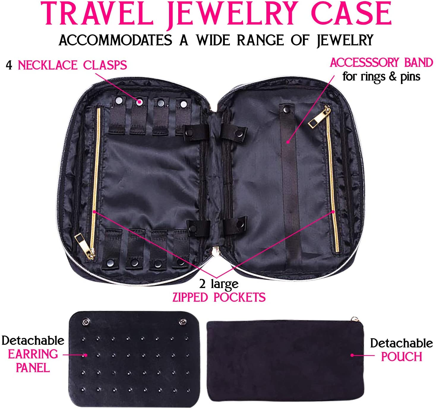 Ms. J Travel Jewelry Organizer | Promises Tangle-Free Necklaces