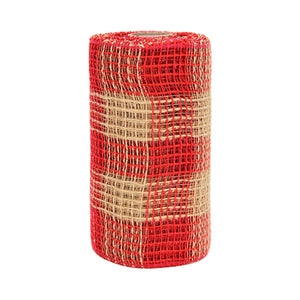 Art.6284 Malla Decorativa Yute /Rojo
