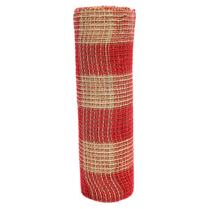 Art.6285 Malla Decorativa Yute /Rojo