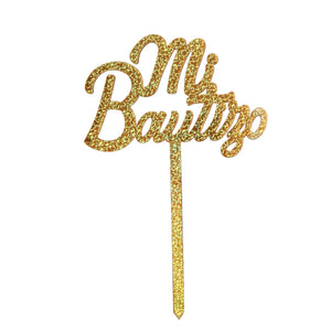 Art.7782 Pick Mi Bautizo Metalizado
