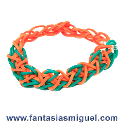 Fantasías Miguel Clave:AN134 Pulsera Aqua/Orange