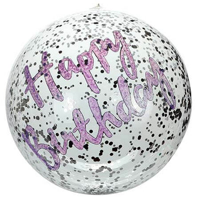 Fantasías Miguel Clave:AX268 Globo Happy Birthday Plata