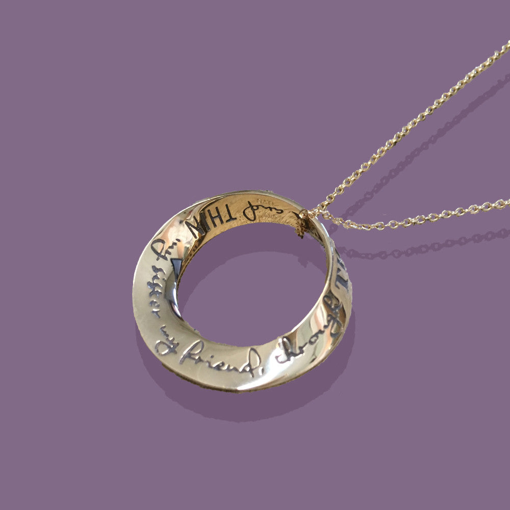 Gold My Sister, My Friend Through Thick And Thin Necklace
