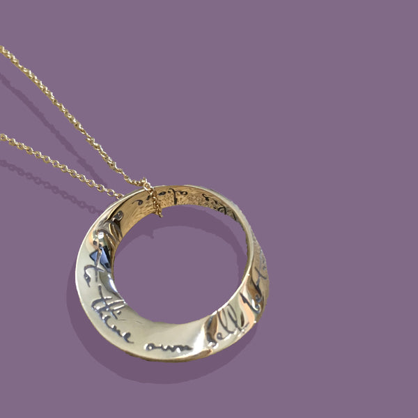 Gold To Thine Own Self Be True Necklace