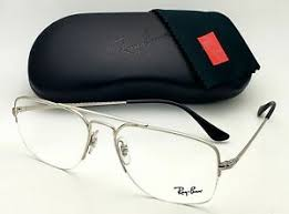Ray-Ban Eyeglass General Gaza Square Style Silver Frame - RB6441 2501 56