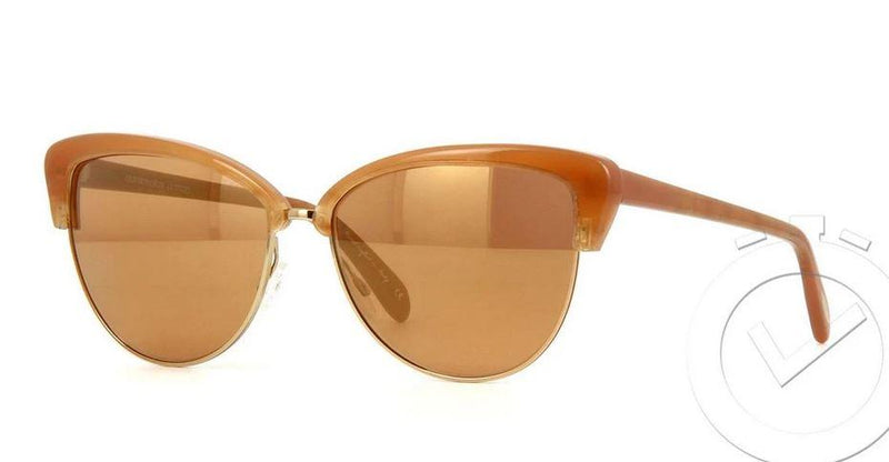 Oliver Peoples Sunglass Cat Eye Style Light Brown Color | OV5244S 14697T