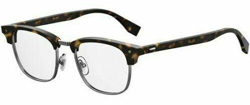 Fendi Eyeglass - Square Style FF M0006 Dark Havana Acetate Frame with Demo Lens